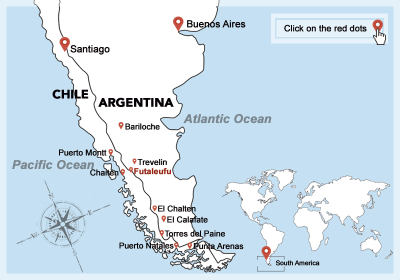 puerto montt chile map Hotel Lodging Options In Patagonia Chile Argentina puerto montt chile map