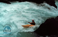 A kayaker at the bottom of the Pit of Despair Eddy just above The Toaster