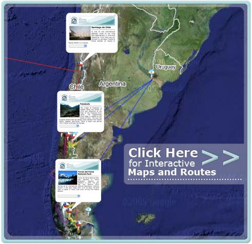 Maps of Patagonia Maps of Chile Futaleufu River Maps